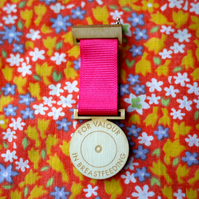 Medal For Valour in Breastfeeding Motherhood Laser Cut Wood Funny Gift for Mum