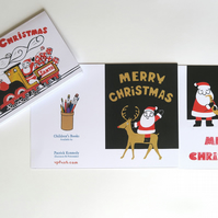 Santa Christmas card packs