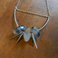 RUTILATED QUARTZ NUGGETS AND SPIKES SILVER NECKLACE