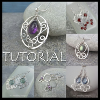 Wire Jewellery Tutorial - BLOSSOM DROPS Pendants Earrings Wirewrapping Wirework