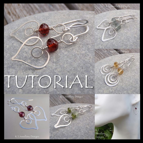 Wire Jewellery Tutorial - HAMMERED HEARTS Earrings - Wire Wrapping Wirework