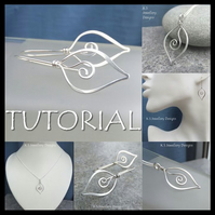 Wire Jewellery Tutorial - SWIRL LEAVES Pendants & Earrings Wirewrapping Wirework