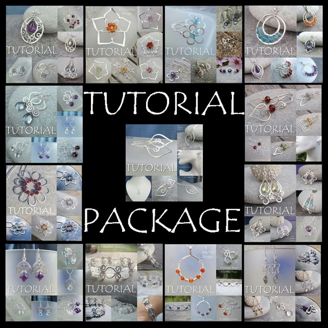 WIRE JEWELLERY TUTORIAL PACKAGE - Buy any 5 for 15 pounds (save 5 pounds)
