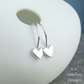 Sterling Silver Heart Earrings - Tiny Hearts - Love Romance Handmade - Metalwork