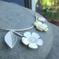 Flowering Branch Sterling Silver Necklace - Cherry Blossom - Handmade Metalwork