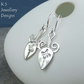 Sterling Silver Flower Bud Earrings - Handmade Metalwork Swirls Flowers Leaves