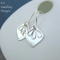 Sterling Silver Petal Trio Earrings - Metalwork Handstamped Flowers Petals