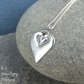 Stamped Heart Sterling Silver Pendant - Hand Stamped Love Heart Metalwork