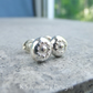 Sterling Silver Stud Earrings - FLOWER TEXTURED PEBBLES V3 - Organic Studs