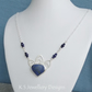 Lapis Lazuli and Wire Swirl Petals Sterling Silver Necklace - Gemstone Floral