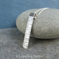 Bark Textured Sterling Silver Bar Pendant - Oxidised Organic Texture Necklace