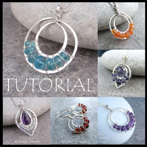 Tutorial - LACE UPS - Wire Jewellery - Step by Step Instructions -  Easy