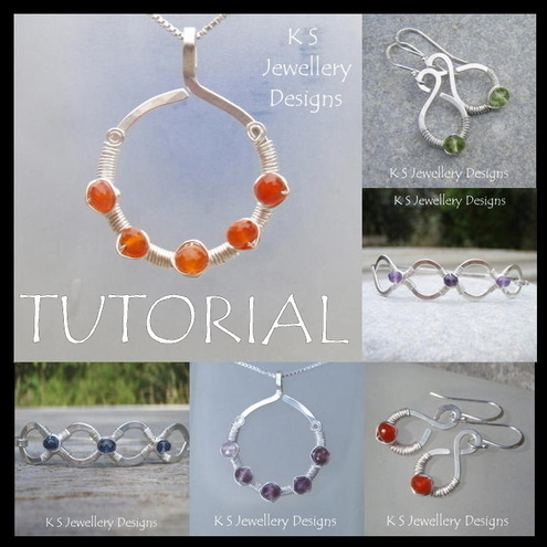 Wirework Tutorial - COILED JEWELS (Pendant, Earrings and Bangles) - Lesson