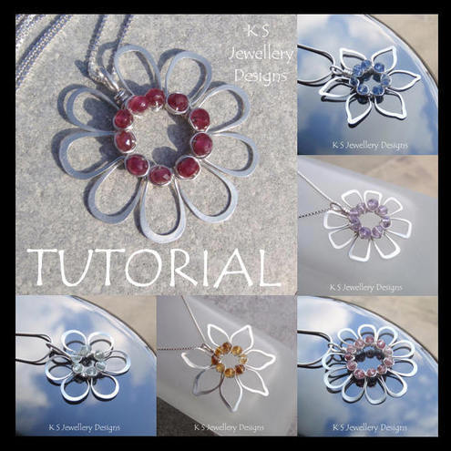 Tutorial - JEWELLED FLOWERS (4 variations) - Wire Jewellery - Wirework