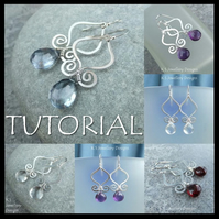 Wire Jewellery Tutorial - GENIE DROPS (Earrings) - Wire Wrapping Wirework