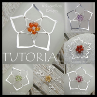Tutorial - FIVE BEAD FLOWERS - Wire Jewellery - Wirework Pendants - Step by Step