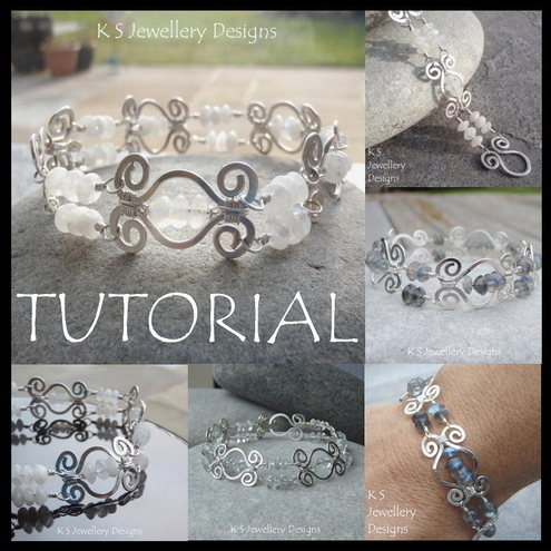 Tutorial - HAMMERED SWIRL LINK BRACELET - Wire Jewellery - Step by Step