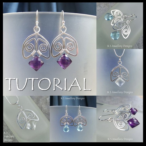 Tutorial - SPIRAL BELLS (Earrings and Pendants) - Wire Jewellery - Step by Step
