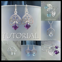 Tutorial - SPIRAL BELLS (Earrings and Pendants) - Wire Jewellery - Step by Step Instructions - Easy