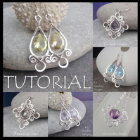 Wirework Tutorial - SPIRAL LOOP FRAMES (Earrings and Pendants) - Wire Jewellery