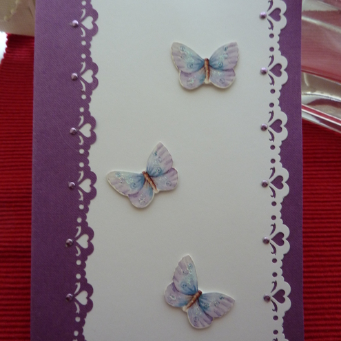 Butterfly joy card