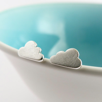 Cloud earrings, handmade in Sterling silver by Cathy McCarthy