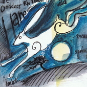 Silver Hare and Moon