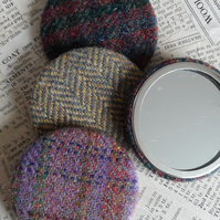Tweed Handbag Mirror
