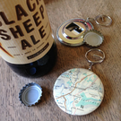 Bottle Opener Keyring - Yorkshire Map