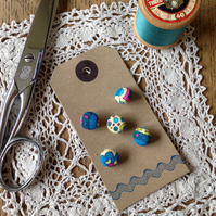 Fabric Covered Buttons - Liberty Virginia