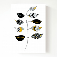 New - Zig Leaf Postcard