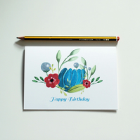 NEW - Happy Birthday - Floral Greetings Card
