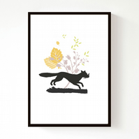 NEW! Dashing Fox (A4) Print