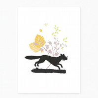 NEW - Dashing Fox Greetings Card