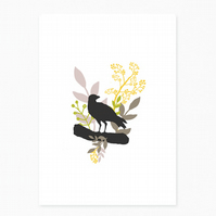 NEW - Thoughtful Crow Greetings Card