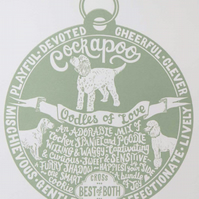 "Cockapoo ""Dog Tag"" Print"