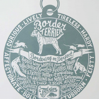 "Border Terrier ""Dog Tag"" Print"