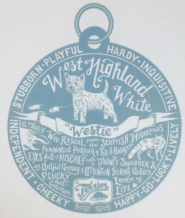 West Highland White Terrier Westie Print