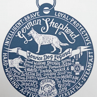 "German Shepherd ""Dog Tag"" Print"