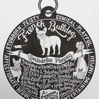 "French Bulldog ""Dog Tag"" Print"