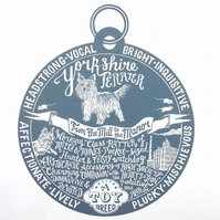 "Yorkshire Terrier ""Dog Tag"" Print"