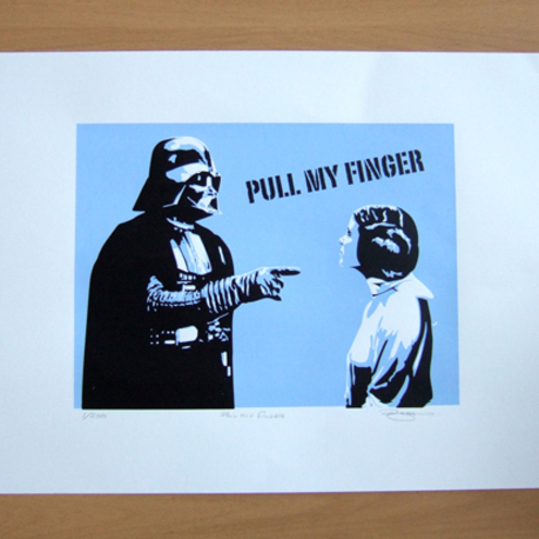 Star Wars Pull My Finger Hand Pulled Limited Edition Screen Print