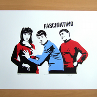 Hand Pulled Limited Edition Star Trek 'Fascinating' Screen Print