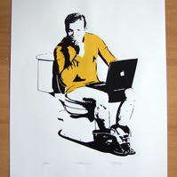 Star Trek 'Captains Log' Hand Pulled Limited Edition Screen Print