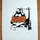Star Wars Homeless Trooper Hand Pulled Limited Edition Screen Print
