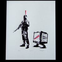 Metal Gear Solid 'Alert' Hand Pulled Limited Edition Screen Print