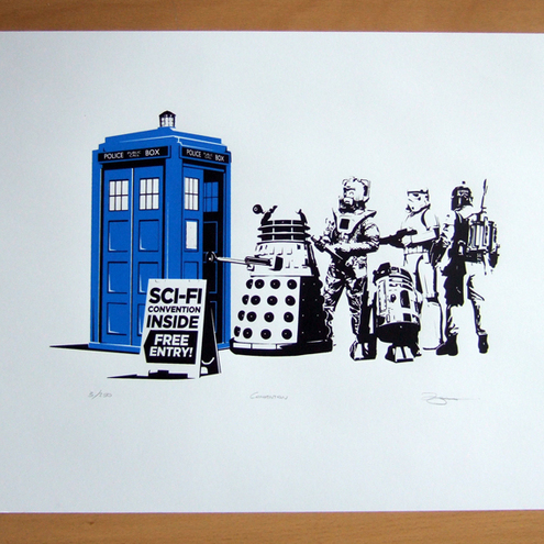 Dr Who, Star Wars, Convention Hand Pulled Limited Edition Screen Print