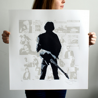 Bruce Springsteen 'The Boss' Hand Pulled Limited Edition Screen Print