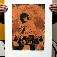 Hand Pulled Limited Edition 'Keith Richards' Screen Print
