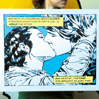 Star Wars Han & Leia 'The Kiss' Hand Pulled Limited Edition Screen Print